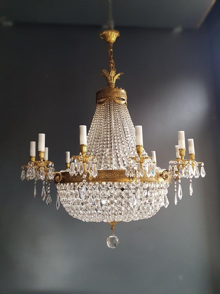 XXL Huge Montgolfièr Empire Sac a Pearl Chandelier Crystal Lustre Ceiling Lamp For Sale 9