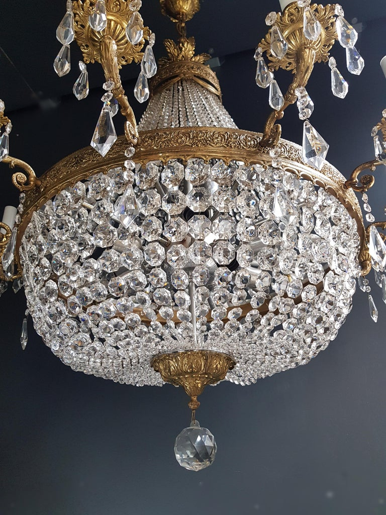 XXL Huge Montgolfièr Empire Sac a Pearl Chandelier Crystal Lustre Ceiling Lamp In Good Condition For Sale In Berlin, DE