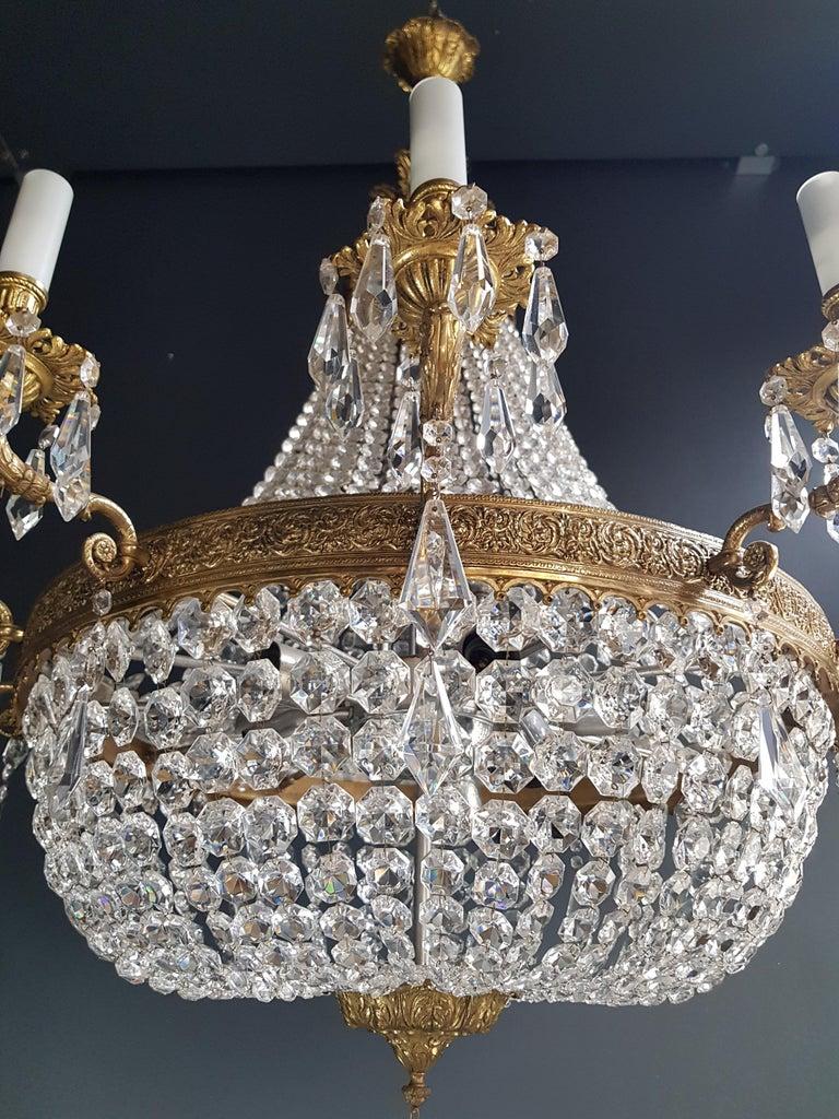 XXL Huge Montgolfièr Empire Sac a Pearl Chandelier Crystal Lustre Ceiling Lamp For Sale 1