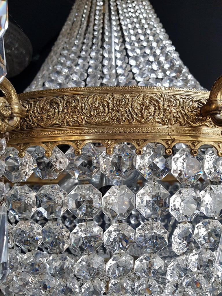 XXL Huge Montgolfièr Empire Sac a Pearl Chandelier Crystal Lustre Ceiling Lamp For Sale 2