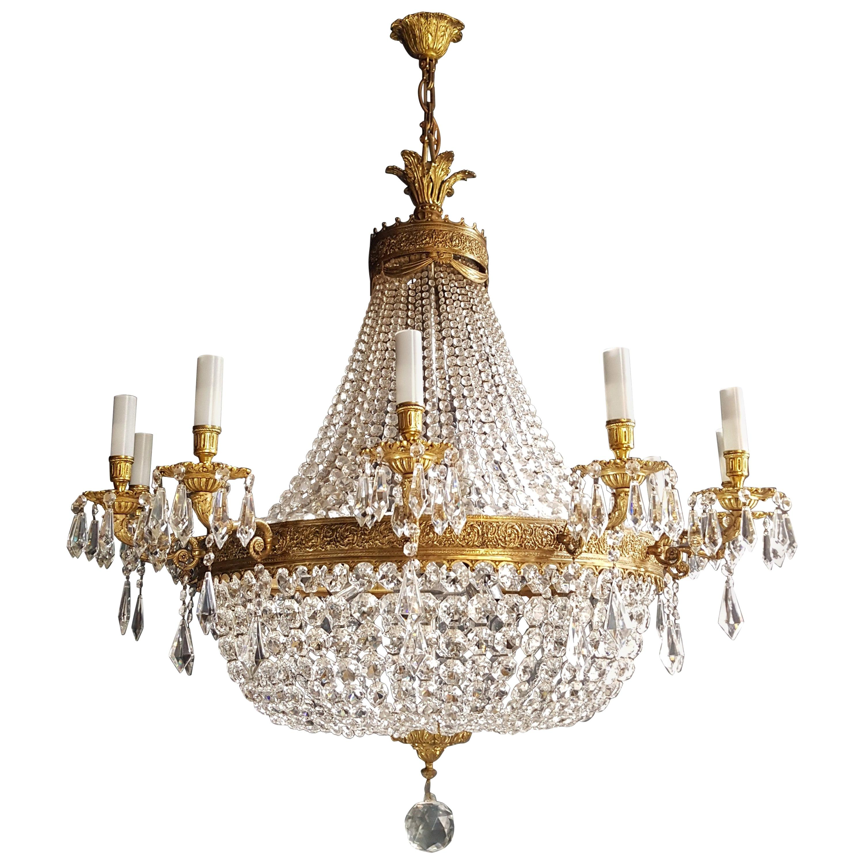 XXL Huge Montgolfièr Empire Sac a Pearl Chandelier Crystal Lustre Ceiling Lamp