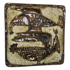 xxl Modernist West German Ceramic Wall Plate Object Helmut Schärfenacker, 1960