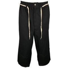 Y-3 by YOHJI YAMAMOTO Size M Black Cotton Elastic Wide Leg Casual Pants