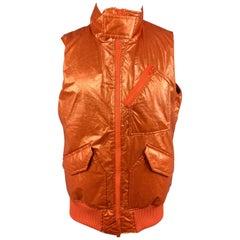 Y-3 by YOHJI YAMAMOTO Size M Metallic Orange Zip Up Bomber Vest