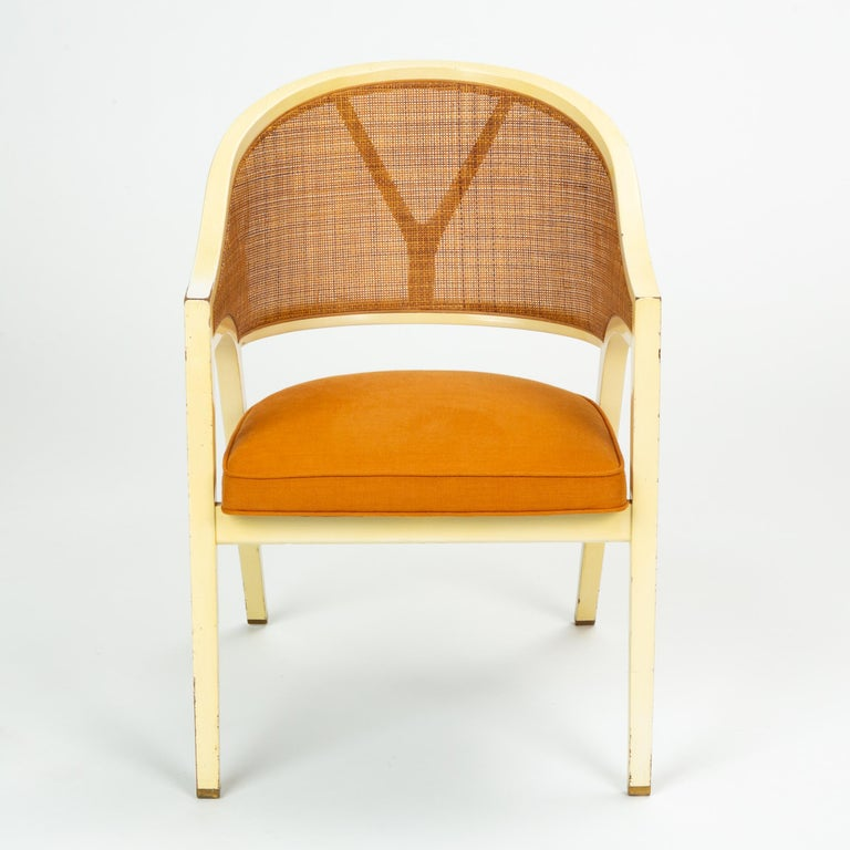 Mid-Century Modern Y-Back Captain Chair by Edwards Wormley for Dunbar For Sale