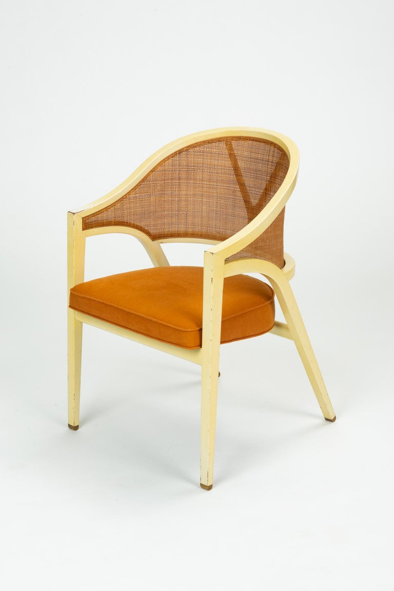 American Y-Back Captain Chair by Edwards Wormley for Dunbar For Sale