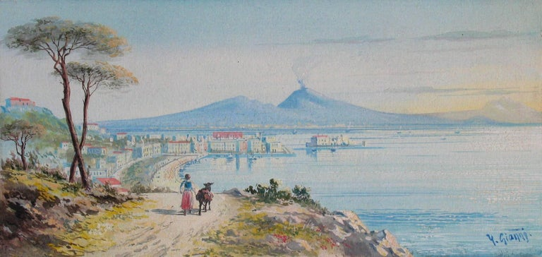 Y. Gianni, Italian the Gulf of Naples, 19th Century  For Sale 1