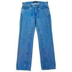 Y/ Project Paris Light Blue Wash XL Pocket Denim Jeans Size S
