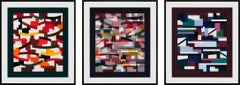 """""""Union"""" Suite of 3 Limited Edition Hand-Signed Serigraphs by Yaacov Agam, Framed"""