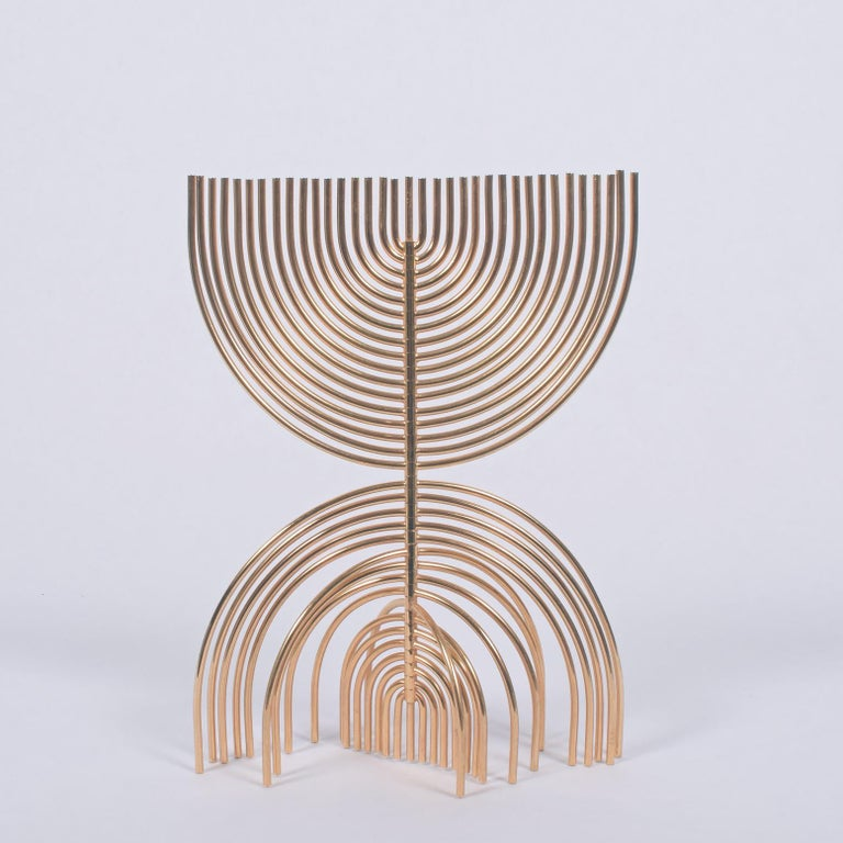 Signed and numbered Agam 300/900 Kinetic sculpture solid brass with 24-carat gold plate.