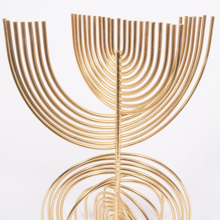 Plated Yaakov Agam Kinetic Sculpture, 1988 For Sale