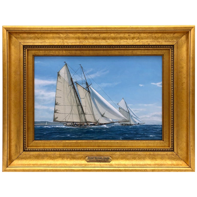 """Yacht Racing off Newport, 1911"" by Shane Michael Couch For Sale"