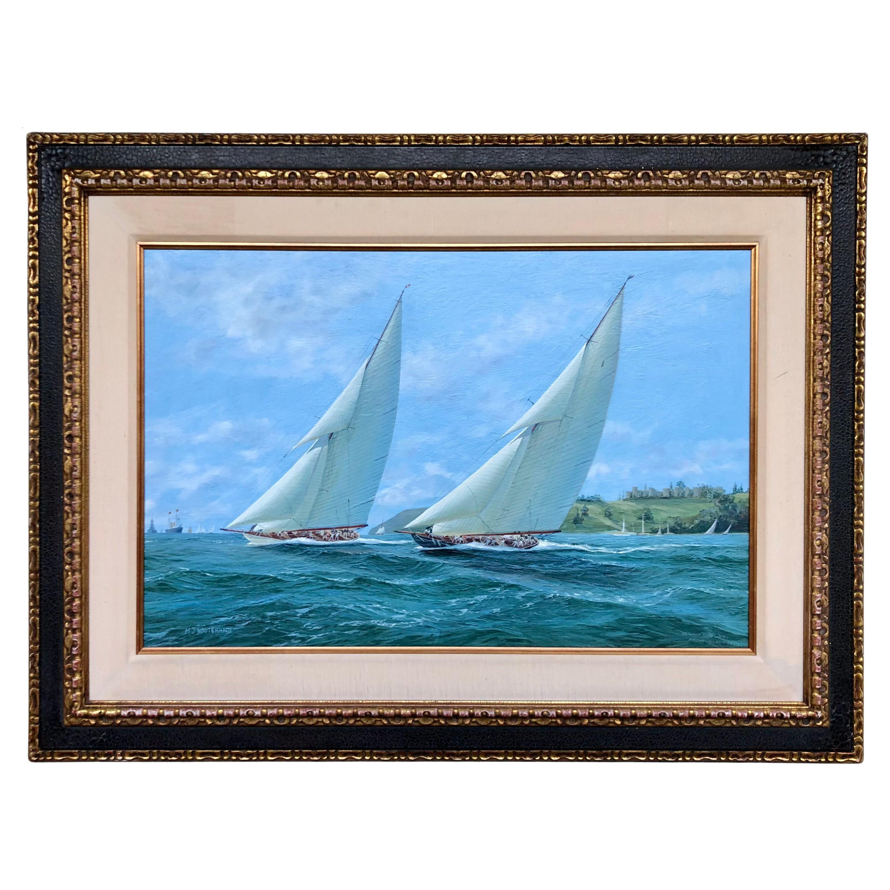 """""""Yachts Racing Off Cowes"""" by Michael Whitehand"""