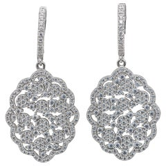 Yagi Design Sterling Silver Earrings Gem Set CZ