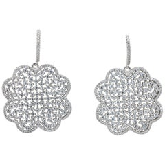 Yagi Design Sterling Silver Finish Earrings Gem Set CZ Rhodium