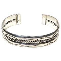 Yaha Navajo Sterling Silver 27 Gr. Cuff Bracelet