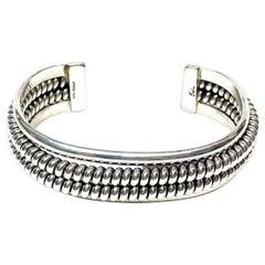 Yaha Navajo Sterling Silver 44 Gr. Cuff Bracelet