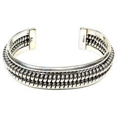 Yaha Navajo Sterling Silver 45 Gr. Cuff Bracelet