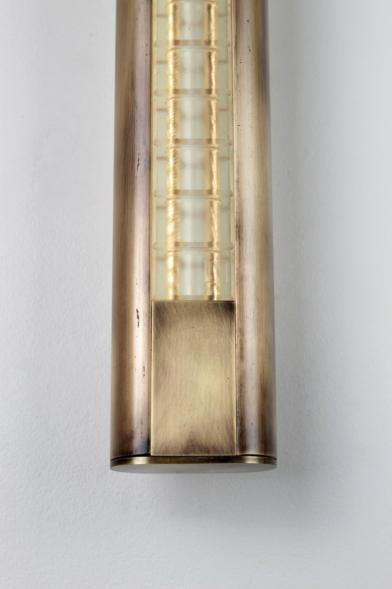 Yakata Modern Wall Sconce Black Brass  For Sale 2