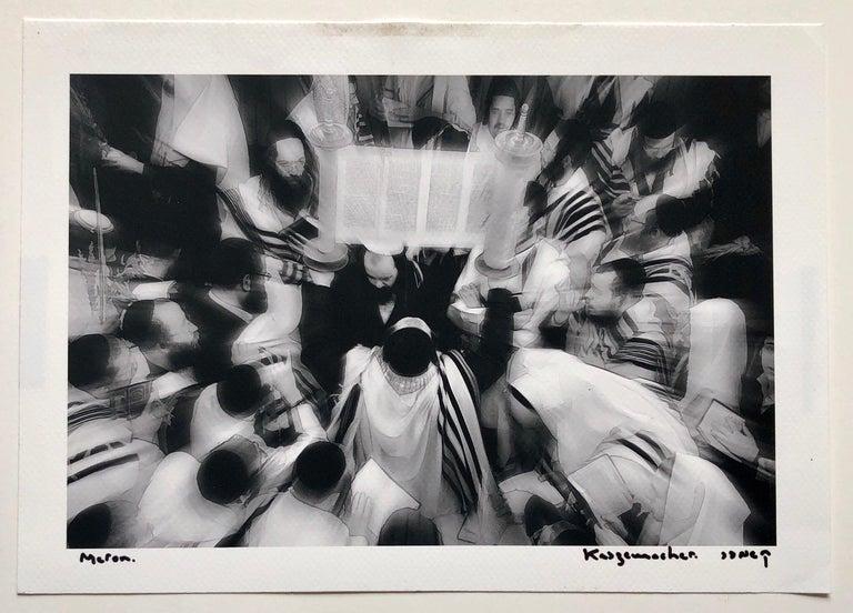 Israeli Jewish Prayer Tallit Photogram Op Art Kabbala Photograph Judaica Photo For Sale 3
