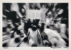 Israeli Jewish Prayer Tallit Photogram Op Art Kabbala Photograph Judaica Photo