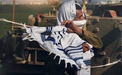 Israeli Soldier Praying Tallit Photogram Op Art Kabbala Photograph Judaica Photo