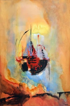 Sailing to Eternity, Abstract Painting