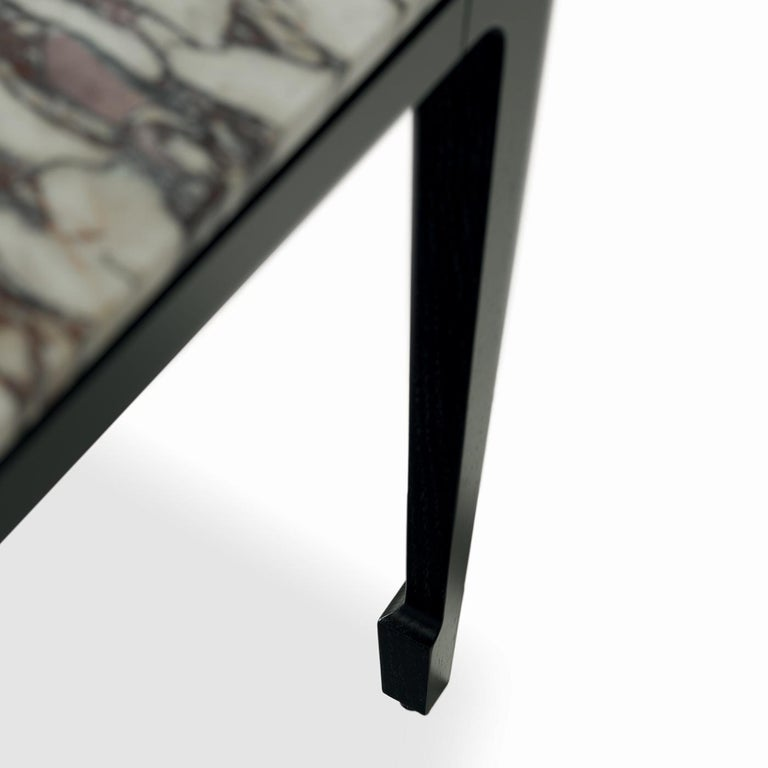 Italian Yang Black Side Table For Sale