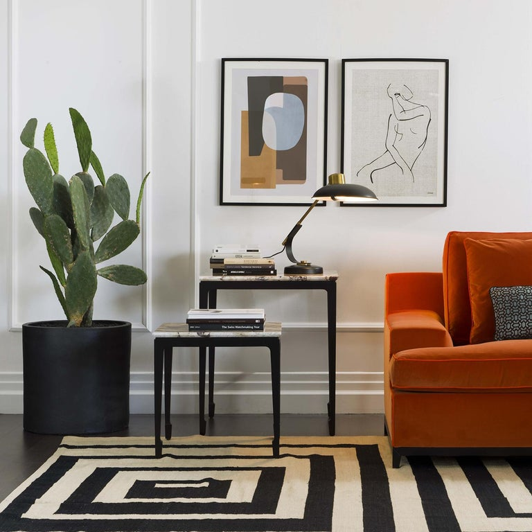 Contemporary Yang Black Side Table For Sale