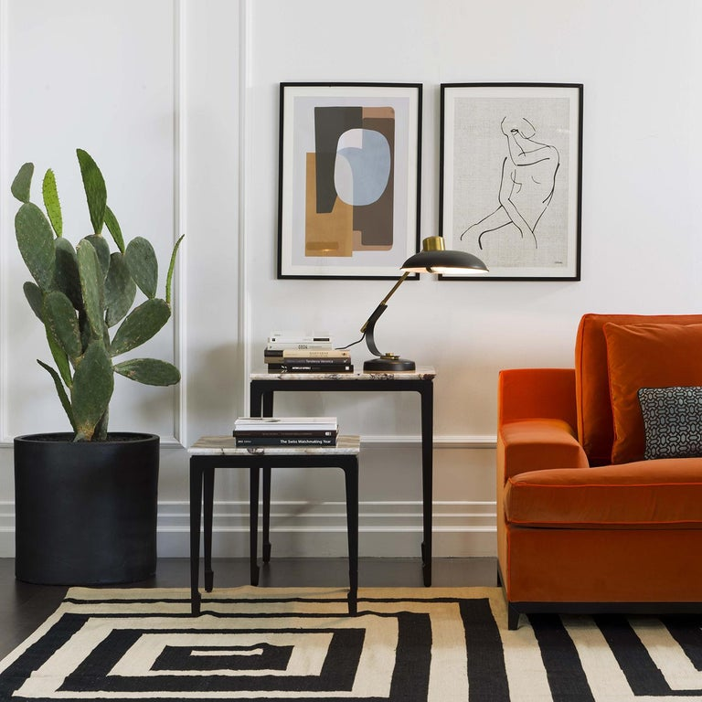 Contemporary Yang Black Tall Side Table For Sale