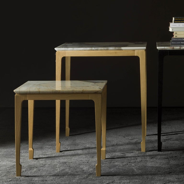 Marble Yang Side Table For Sale