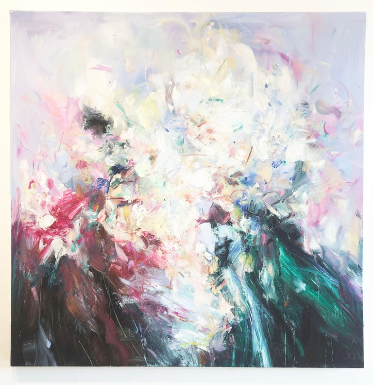 Abstract expressionist oil painting, Yangyang Pan, Abstract Portrait - Painting by YangYang Pan