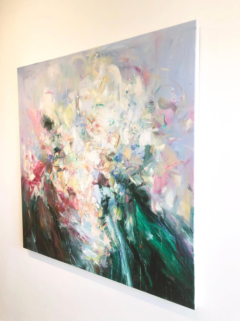 Abstract expressionist oil painting, Yangyang Pan, Abstract Portrait - Abstract Expressionist Painting by YangYang Pan