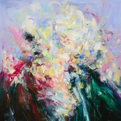 Abstract expressionist oil painting, Yangyang Pan, Abstract Portrait