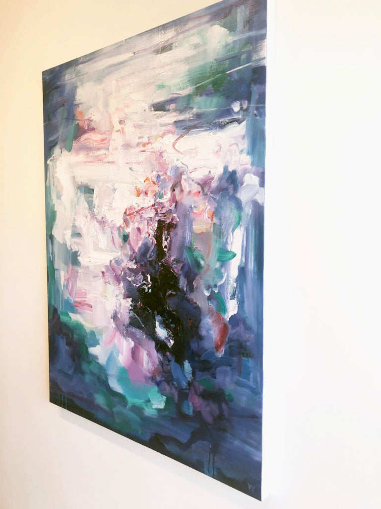 Abstract expressionist oil painting, Yangyang Pan, Echoes - Abstract Expressionist Painting by YangYang Pan