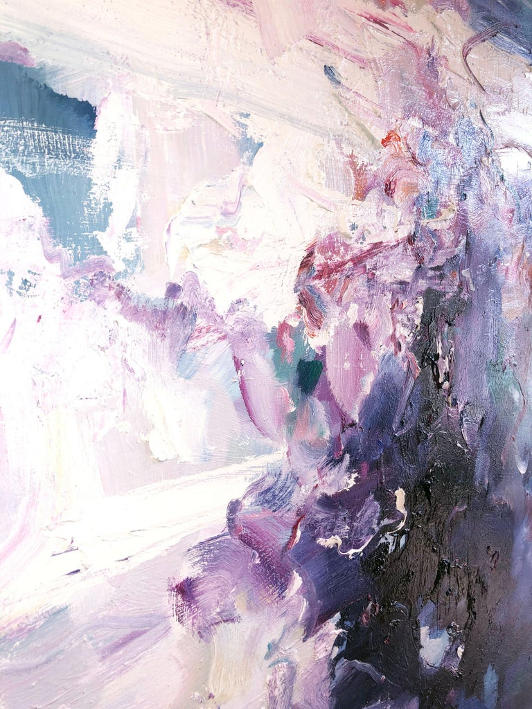Abstract expressionist oil painting, Yangyang Pan, Echoes 1