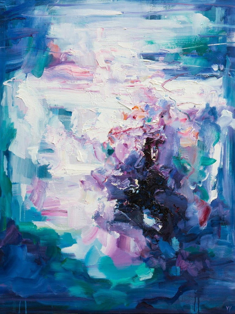 YangYang Pan Landscape Painting - Abstract expressionist oil painting, Yangyang Pan, Echoes