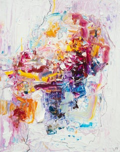 Abstract expressionist oil painting, Yangyang Pan, Ice Cream
