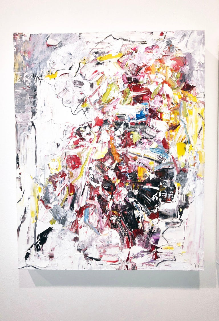 Abstract expressionist oil painting, Yangyang Pan, Let Go - Painting by YangYang Pan