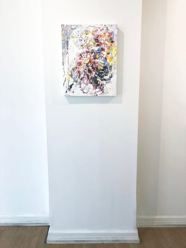 Abstract expressionist oil painting, Yangyang Pan, Let Go - Abstract Expressionist Painting by YangYang Pan