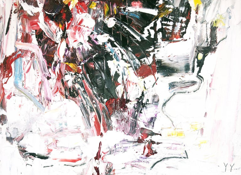 Abstract expressionist oil painting, Yangyang Pan, Let Go For Sale 1
