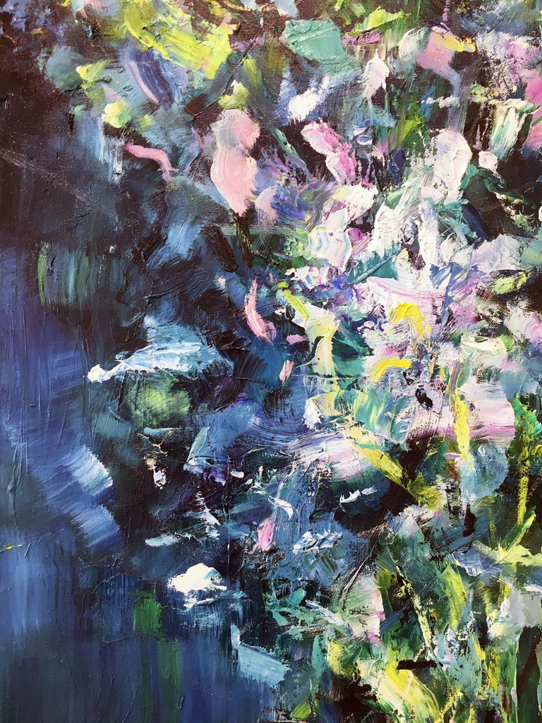 Abstract expressionist oil painting, Yangyang Pan, Moon River For Sale 1