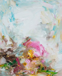 Abstract Expressionist Oil Painting, Yangyang Pan 'Partly Cloudy'