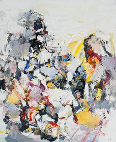 Abstract Expressionist Oil Painting, Yangyang Pan 'Snow Hills'