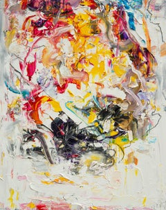 Abstract expressionist oil painting, Yangyang Pan, Vibe