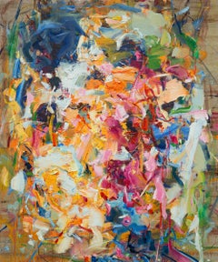 Abstract Expressionist Oil Painting, Yangyang Pan 'Wildflower'