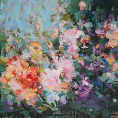 Yangyang Pan Abstract Floral Painting,  'Euphoria'