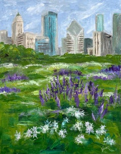 Lurie Garden, Early Summer, Oil Painting