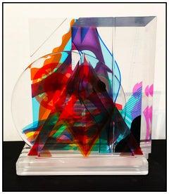 Yankel Ginzburg Mood Swing Original 5 Piece Acrylic Sculpture Signed Modern Art