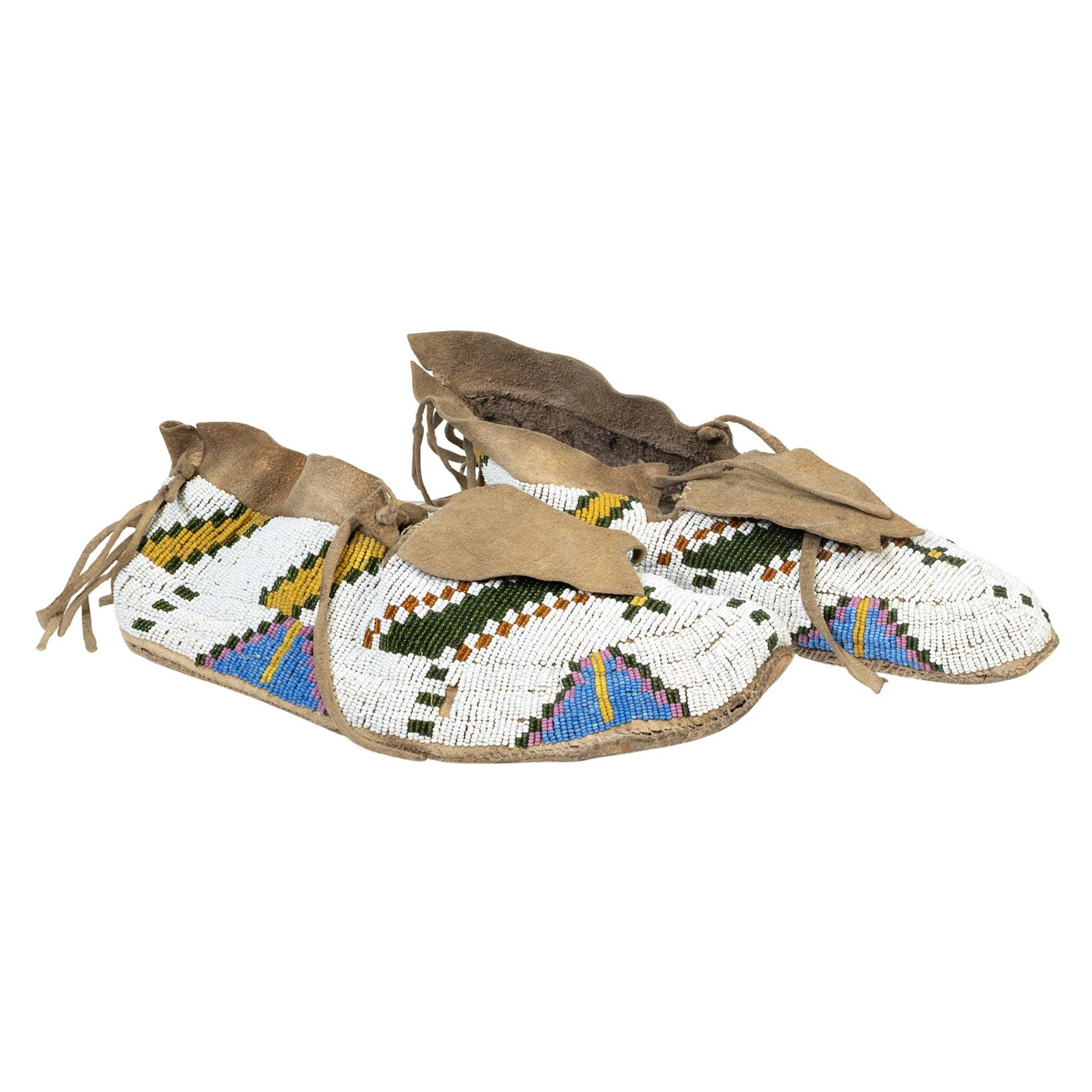 Yankton Sioux Beaded Moccasins